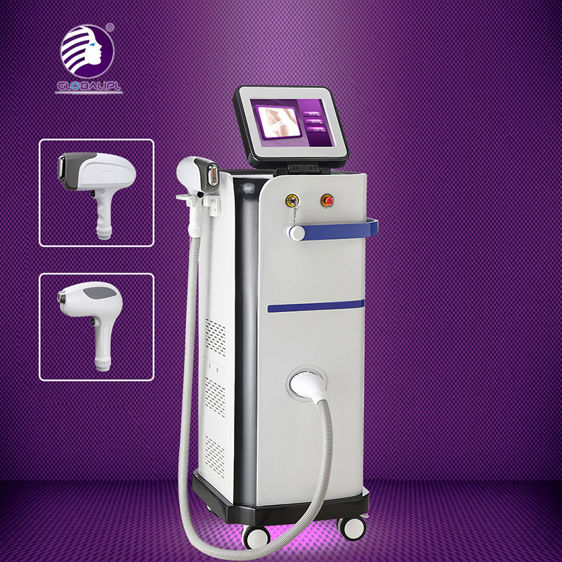 Fiber Coupled Facial Diode Laser Hair Removal Machine Humaized Bend Design 13 * 13mm2 Size Spot