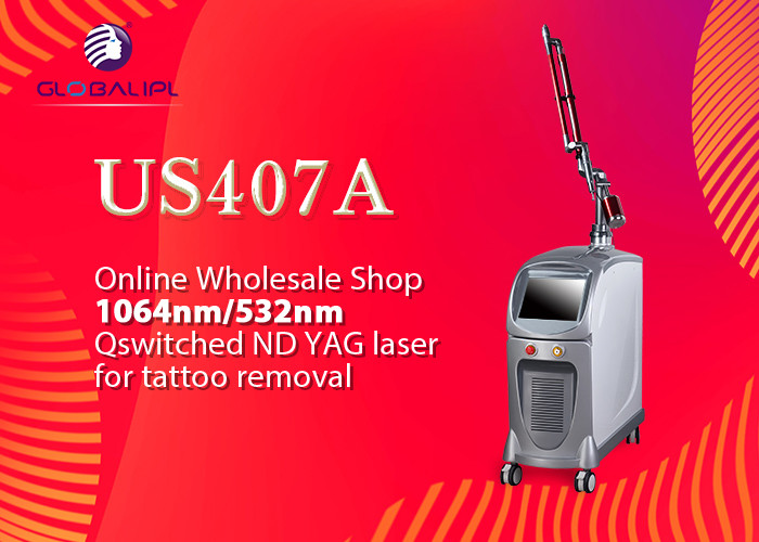 Q Switched Nd Yag Laser Tattoo Removal Device 800mj / 400mj Single Pulse Energy