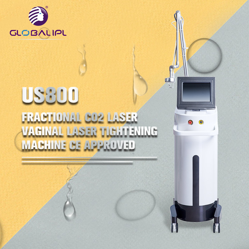 Skin Rejuvenation CO2 Fractional Laser Equipment 33.3Hz Frequency 50W Power