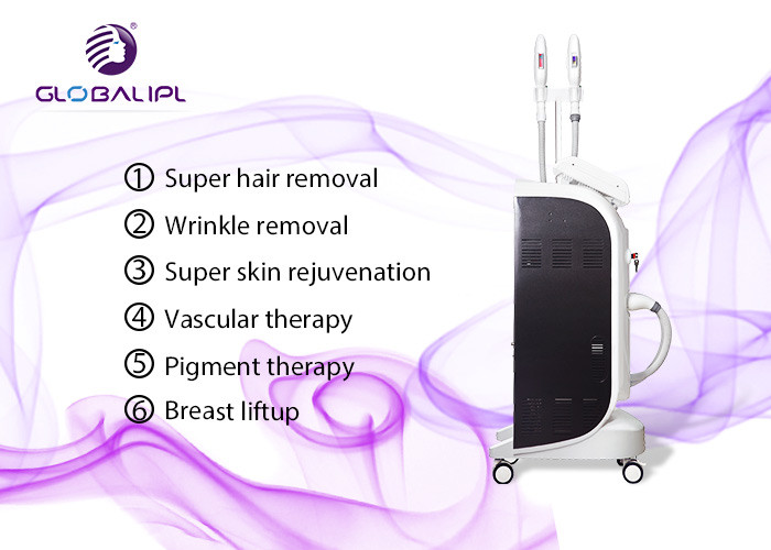 Medical CE approved Stable efficient SHR IPL permanent hair removal machine skin rejuvenation