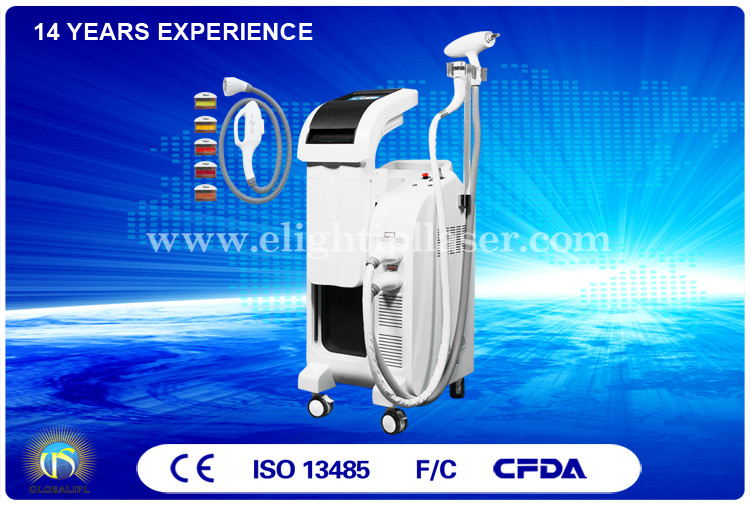 2500W ND Yag E Light IPL RF Beauty Equipment For Skin Tightening